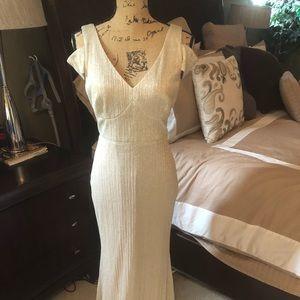Shimmering Gold Calvin Klein Gown!